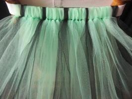 Как сделать пышной юбку из сетки