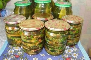 Салат с жареными кабачками на зиму