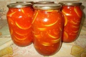 Закуски на зиму из кабачков и томатной